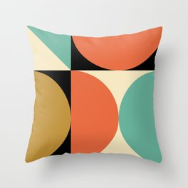 Mid Century Modern Geometric Abstract 235 Throw Pillow