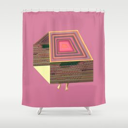 Pink Virtual House Shower Curtain