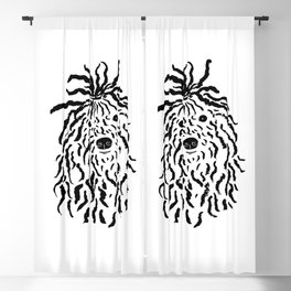 Puli (Black and White) Blackout Curtain