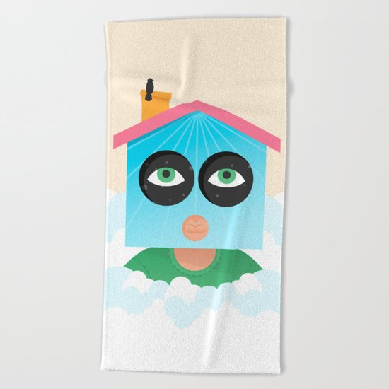 House of Birds Beach Towel