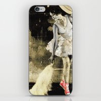 chuck iPhone & iPod Skins featuring Ballerina Chuck by Nicky Mula