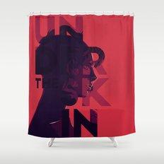 Under the skin - alternative movie poster Shower Curtain