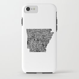Typographic Arkansas iPhone Case