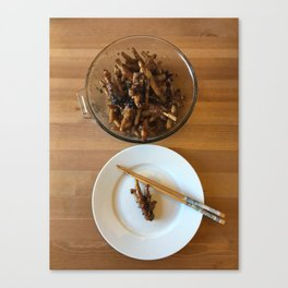 Chinese Spicy Chicken Feet Canvas Print