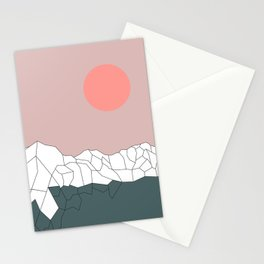 Geometric Landscape 17 Stationery Cards