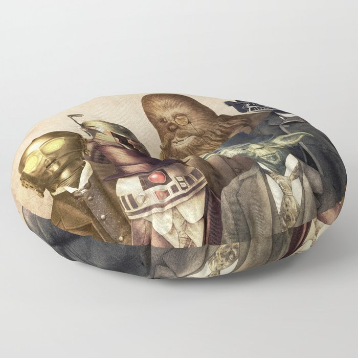 Victorian Wars (square format) Floor Pillow