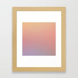 AFTER THOUGHTS - Minimal Plain Soft Mood Color Blend Prints Framed Art Print