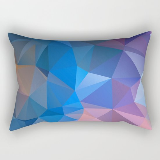 Colored polygon pattern.Amethyst. Rectangular Pillow