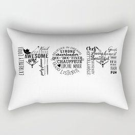 Awesome Mom with Cowgirl Hat Rectangular Pillow