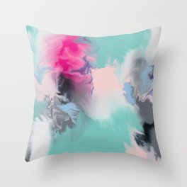 The Josie Abstract Colour Infusion Throw Pillow