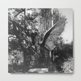 "The ""Wings of the City"" sculpture exhibit by Mexican Artist Jorge Marín 5 Metal Print"