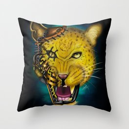 Mechanical Monsters: Leopard Throw Pillow
