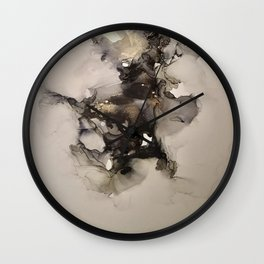 Reverie Alcohol Ink abstract art  Wall Clock