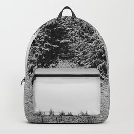 Winter Wanderlust Woods II - Snow Capped Forest Nature Photography Backpack