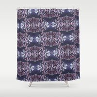 artpop Shower Curtains featuring ARTPOP #7 Gazzing Ball Purple by Lachlan Willis