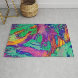 Rainbow negatives Rug