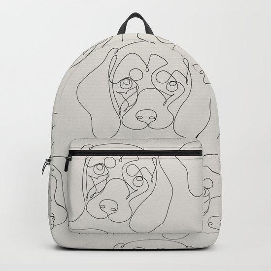 One Line Dachshund Backpack