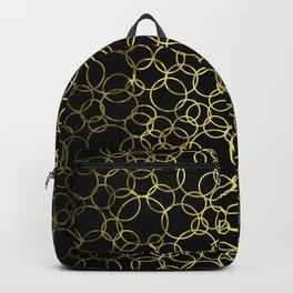Small Gold Circles Backpack