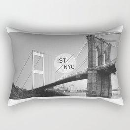 Bridges - nyc vs istanbul Rectangular Pillow