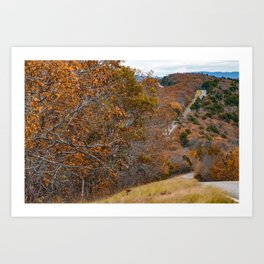 Winding Autumn Roads of the Talimena Scenic Byway Art Print