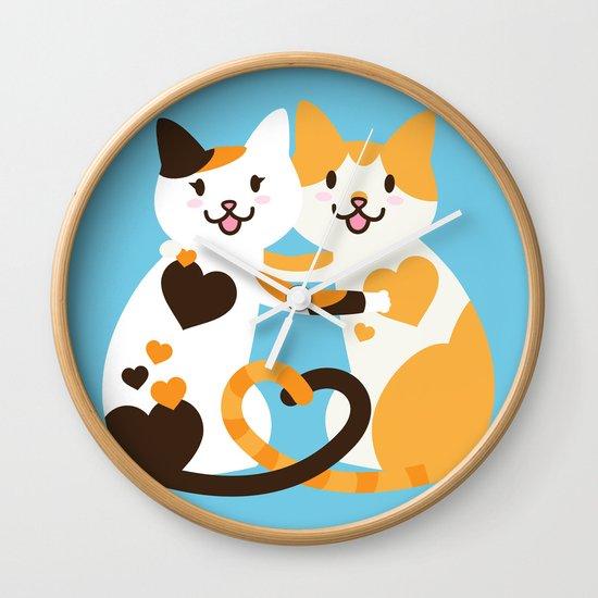 Lovecats Wall Clock