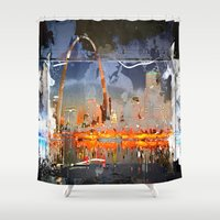 louis Shower Curtains featuring St Louis by Robin Curtiss