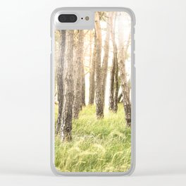 Pinewood Clear iPhone Case