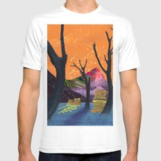 You Haven't Eaten Anything Until You've Had Forest Oysters White MEDIUM Mens Fitted Tee
