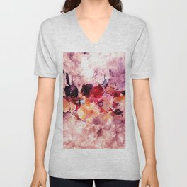 Colorful Minimalist Art / Abstract Painting Unisex V-Neck