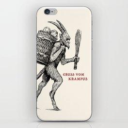 Gruss vom Krampus iPhone Skin