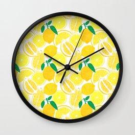 Lemon Harvest Wall Clock