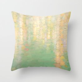 Trees in Watercolour Throw Pillow