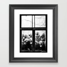 Creepy Spys Framed Art Print