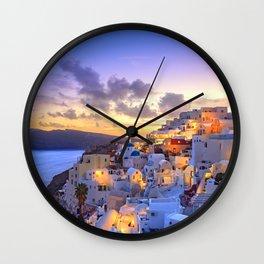 Santorini #society6 #decor #buyart Wall Clock