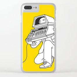 Computer head Clear iPhone Case