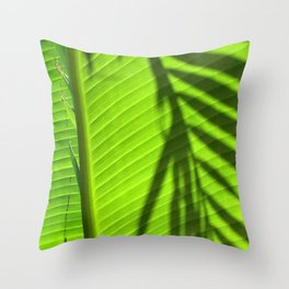 Leaves - Maui Throw Pillow