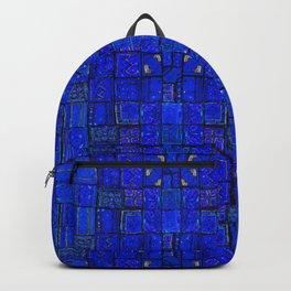 Deep Calm Blue Oriental Berber Traditional Moroccan Texture Design  Backpack