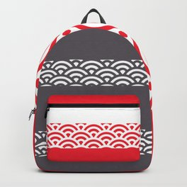 Rainbow Trim Scarlet Red Backpack