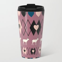 Romantic decor with deer in purple Travel Mug