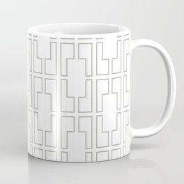 Simply Mid-Century Retro Gray on White Coffee Mug