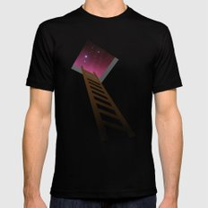 Escape to heaven - pink LARGE Black Mens Fitted Tee