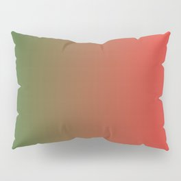 Green and Red Gradient 018 Pillow Sham