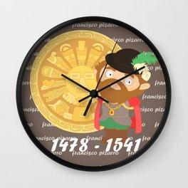 Francisco Pizarro Wall Clock