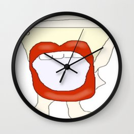 Potty mouth  Wall Clock