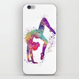 Gymnastics Tumbling Watercolor iPhone Skin