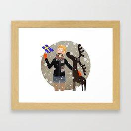 """""""Jag älskar Sverige !"""" Framed Art Print"""