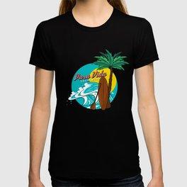 Pura Vida Ocean Costa Rica Waves Surfing Beaches Swimming Gifts T-shirt