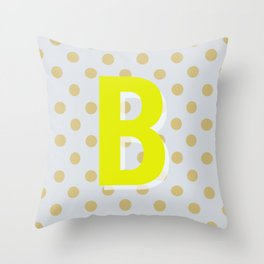 B is for Beautiful Throw Pillow