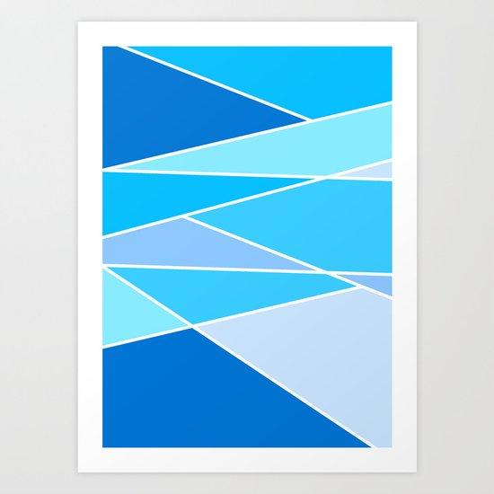 Broken Hues - Blues Art Print