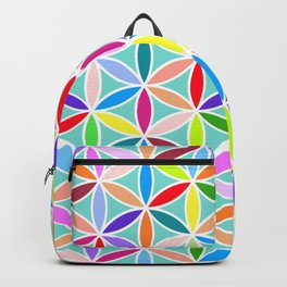 Flower of Life Large Pattern – Multicoloured Backpack